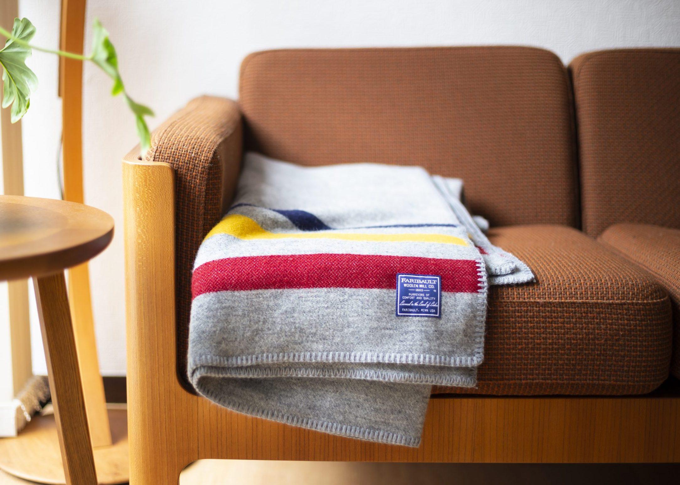 アウトドアの匂いを纏う毛布。ファリバルト・ウーレンミル